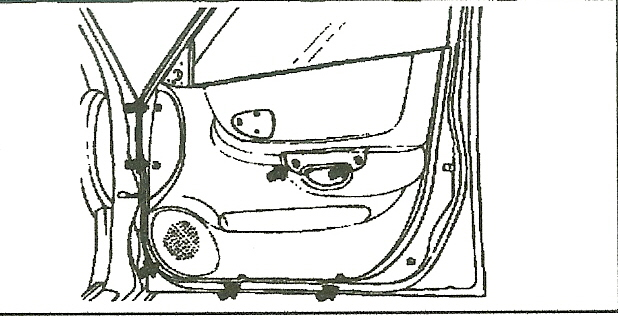 on hyundai 2002 accent cannot remove the door panel though i have removed all screws around the