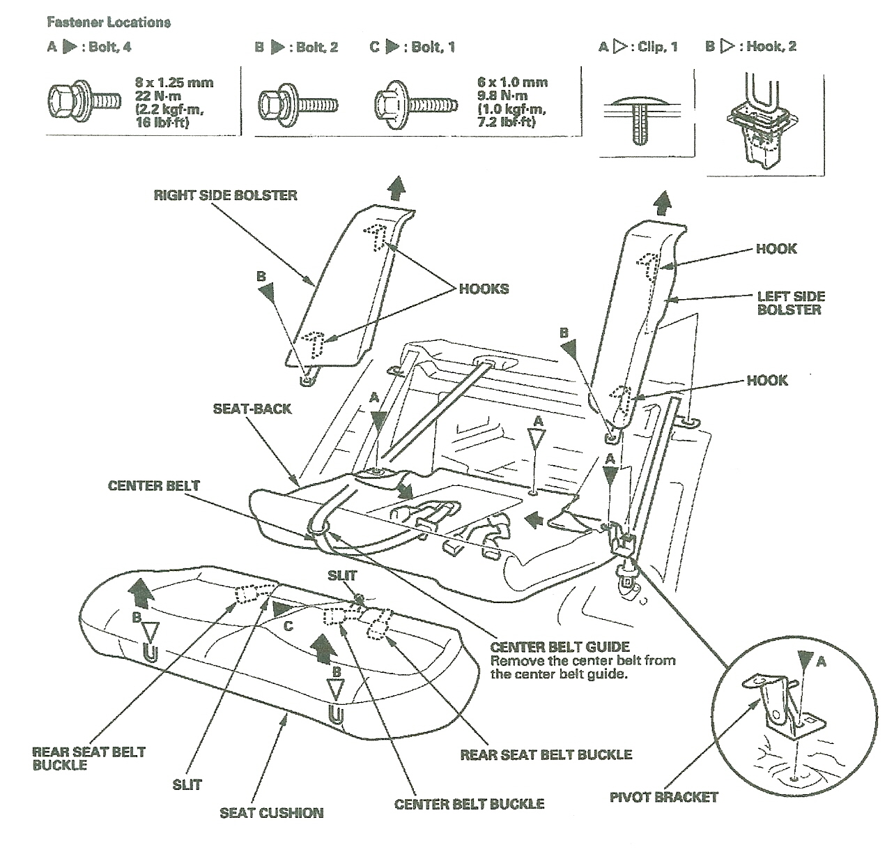 98 civic rear suspension diagram
