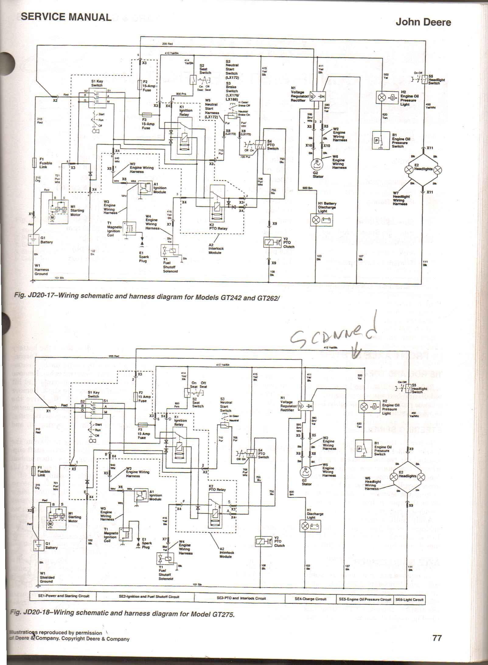 john deere ignition switch diagram john image john deer gt 262 will not start when key is turned on no on john deere john deere gx75 wiring diagram