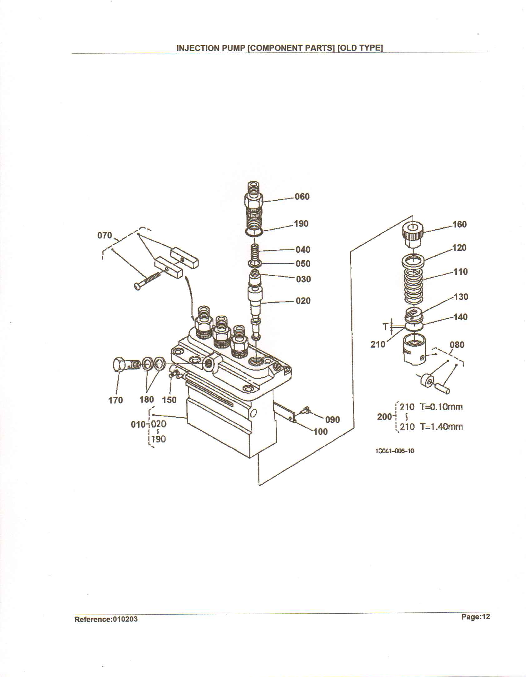 4 cyl kubota diesel motor  injectorn pump  eng no v