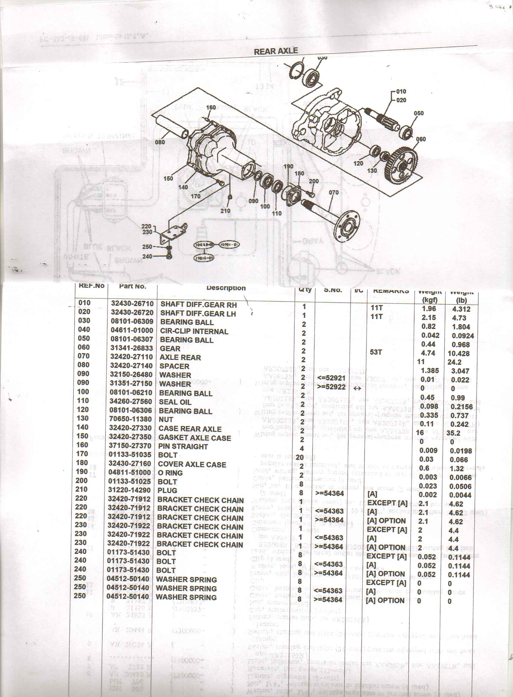 Replacement Parts For L2550 Kubota Tractor : Kubota rtv rear axle diagram get free image