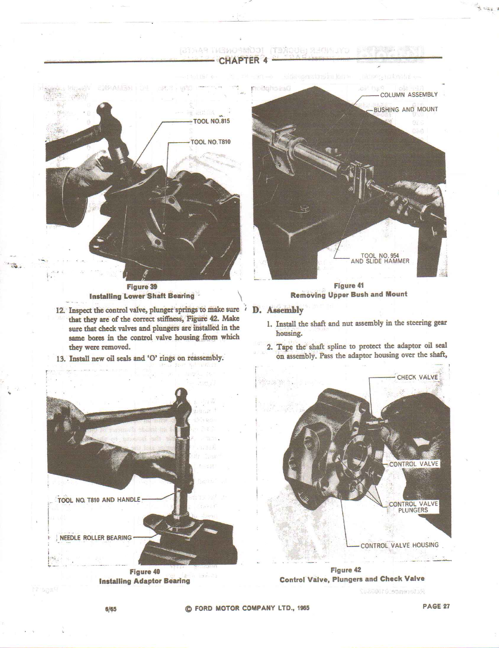 The Seals In Power Steering Of A 4600 Ford Tractor  How Do I Know If I Have The Springs And