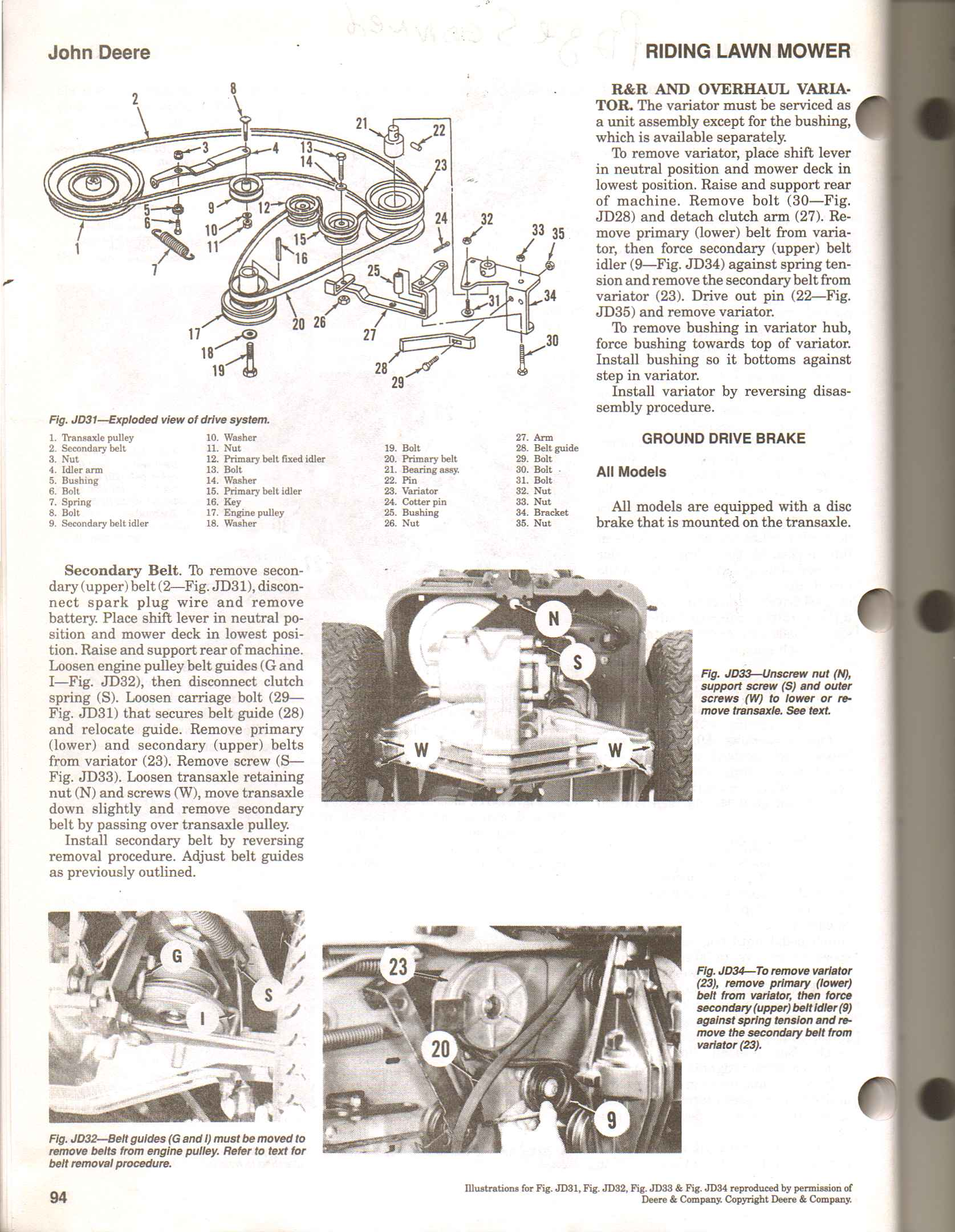 John Deere Rx73 Wiring Diagram : How do i adjust my clutch on a deere rx push in