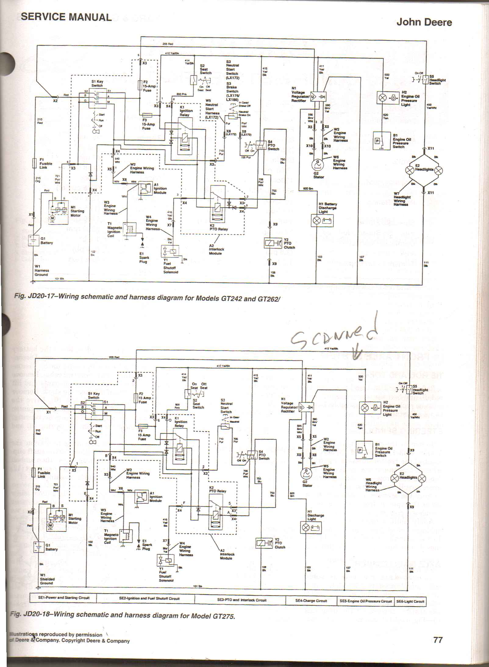 v twin schematic the wiring diagram john deere 235 18hp b s v twin running normal engine quit schematic