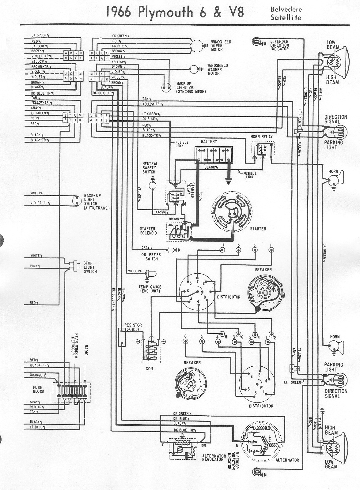 I Need A Wiring Lay Out For A Windshield Wiper Motor And