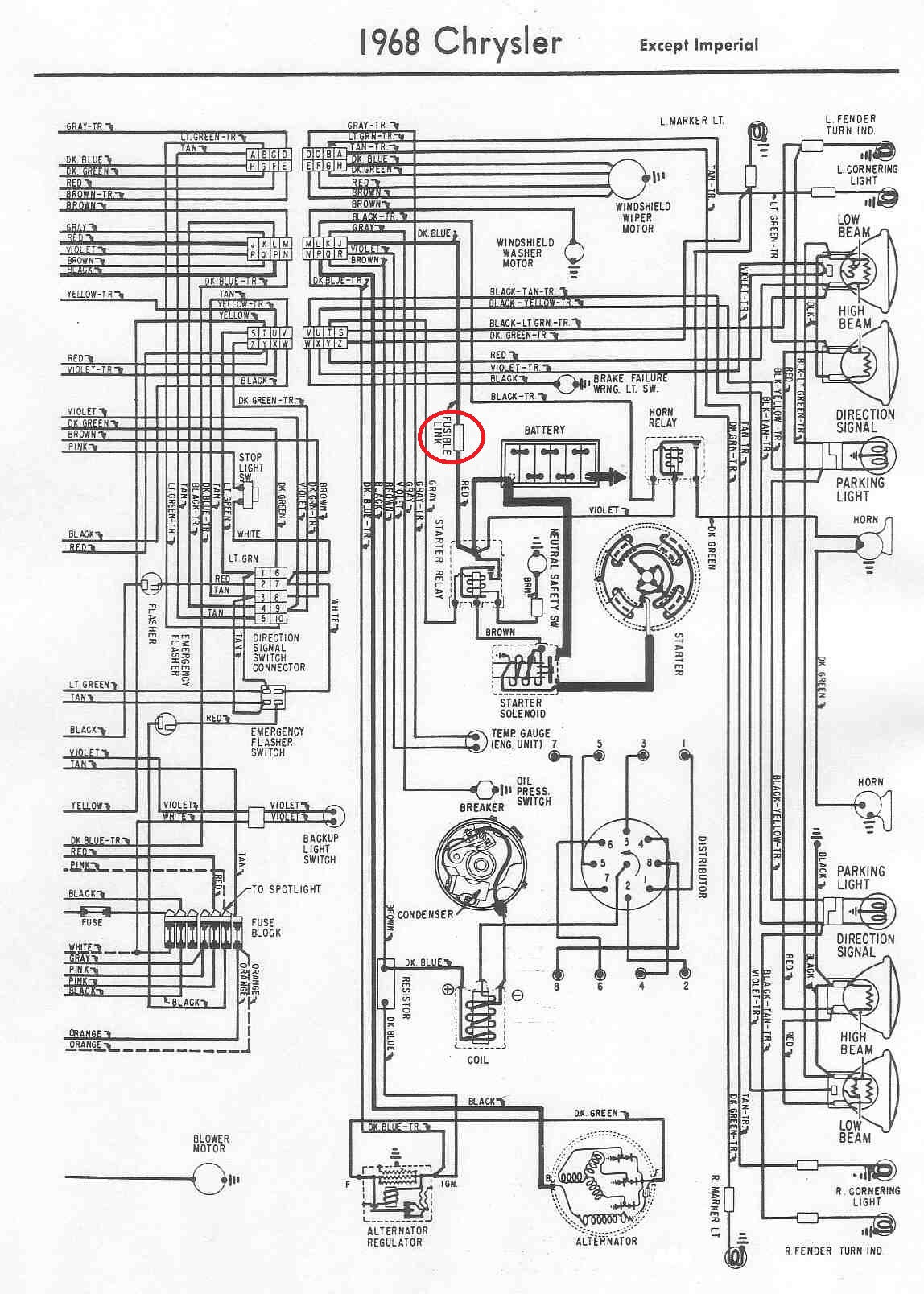 1968 chrysler newport wiring diagram 1968 chrysler newport wiring diagram