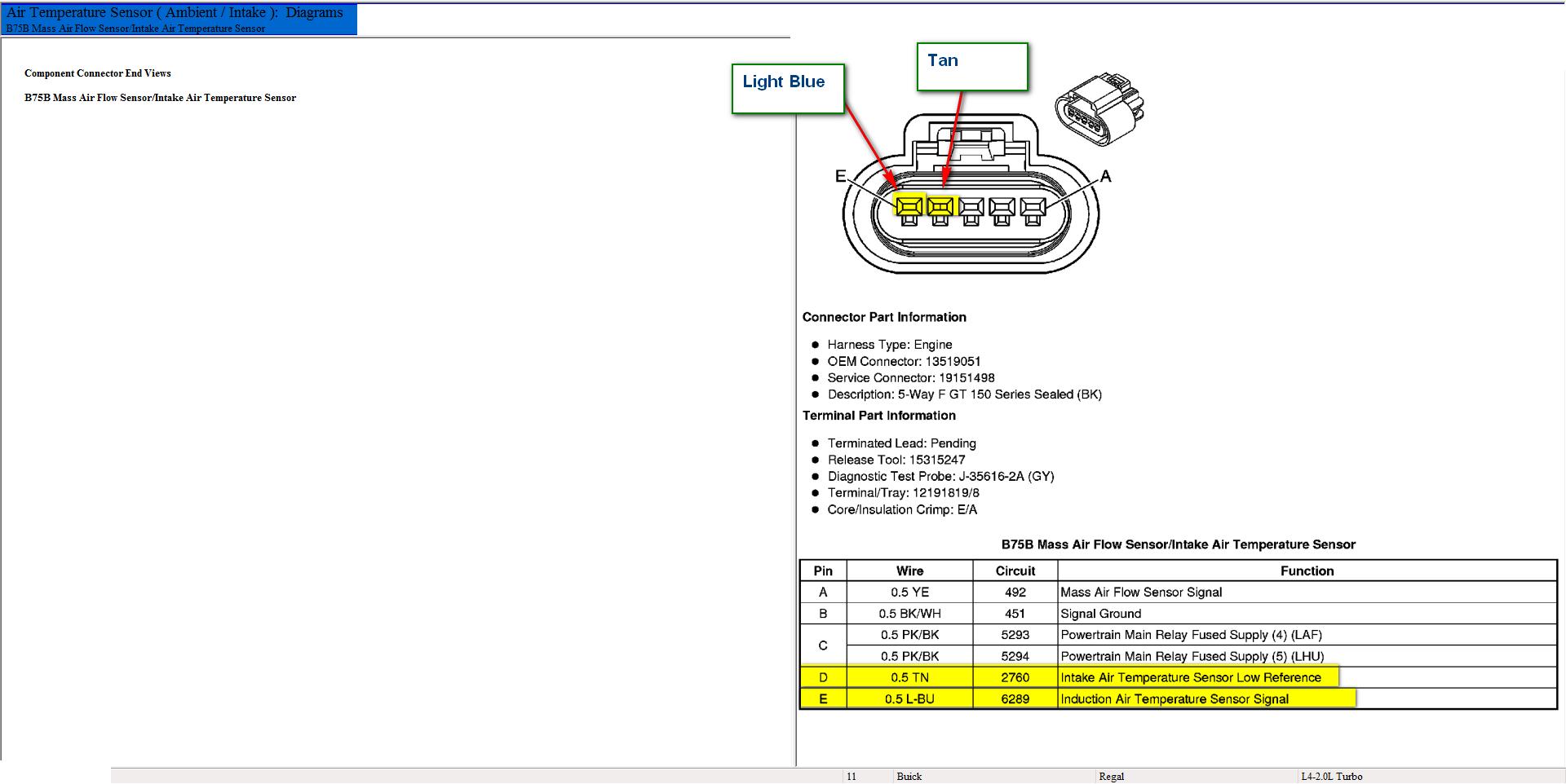 Mass Air Flow Sensor Wiring Diagram - Diagram Stream