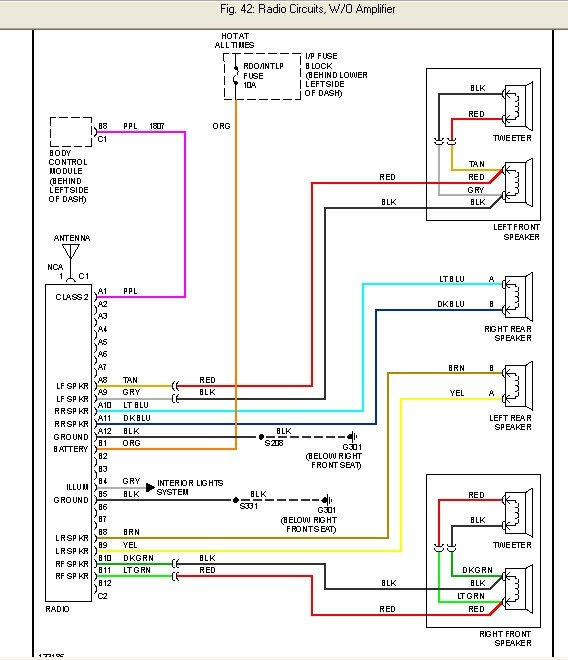 i'm trying to install aftermarket radio or factory cd ... car stereo wiring diagram for 2001 chevy cavalier #5