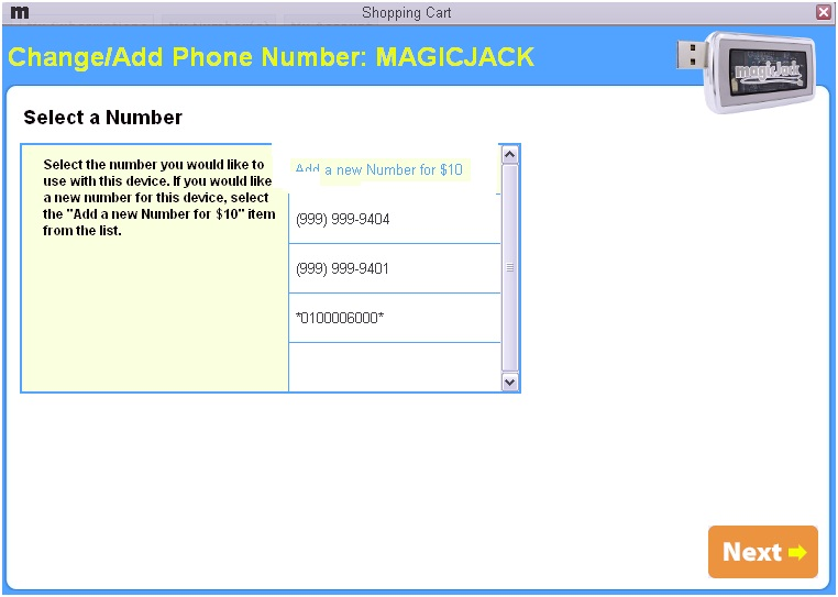 how to change my magicjack number