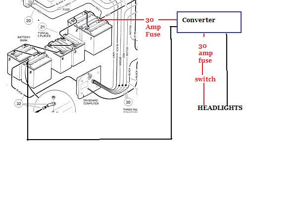 club car headlight wiring diagram 48 volt