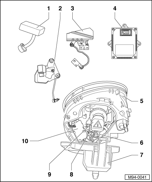 where is the headlight control module on a 2005 vw beetle