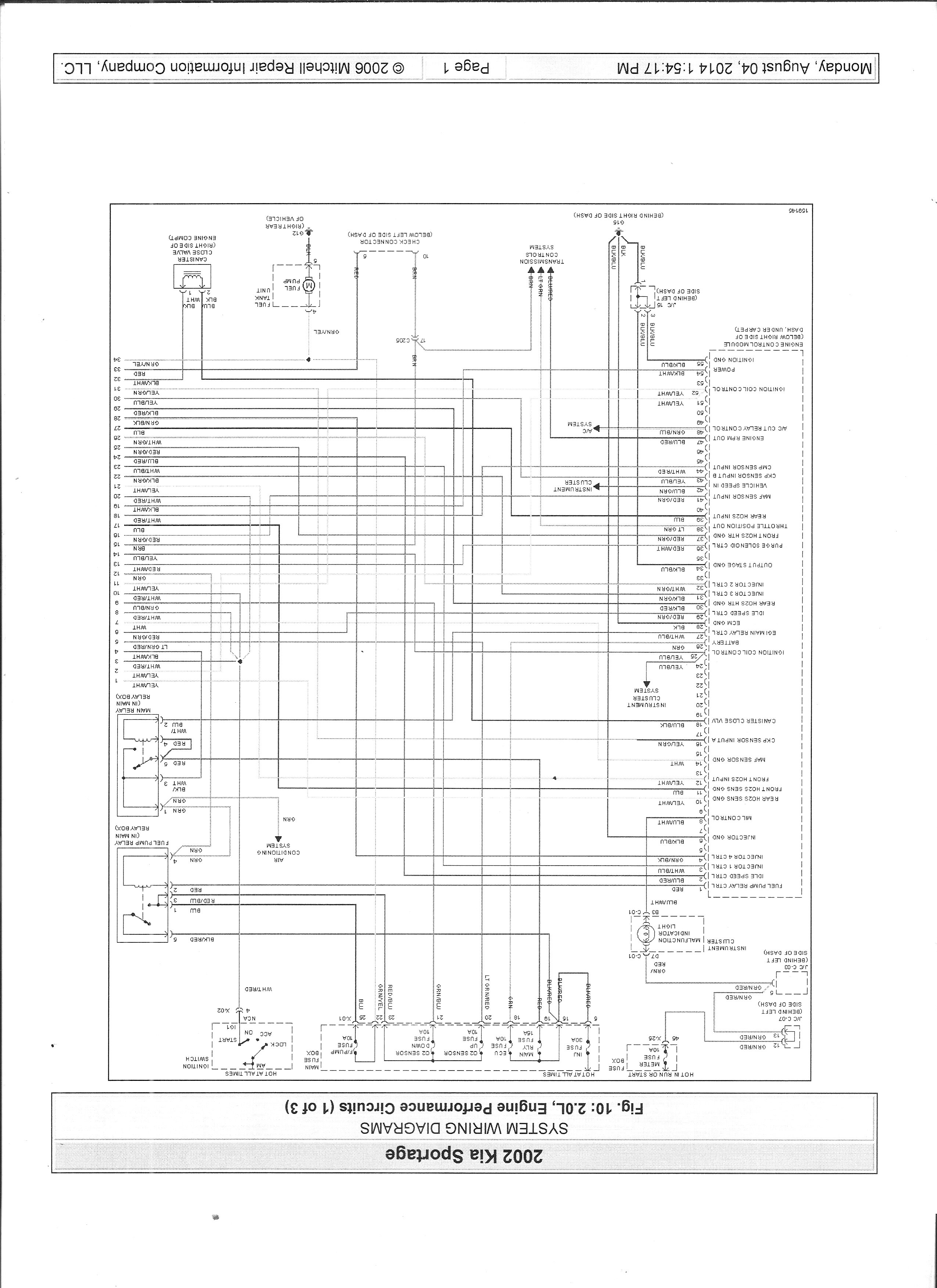 Kia Sportage Ecu Wiring Diagram : I am working on a kia sportage no start have