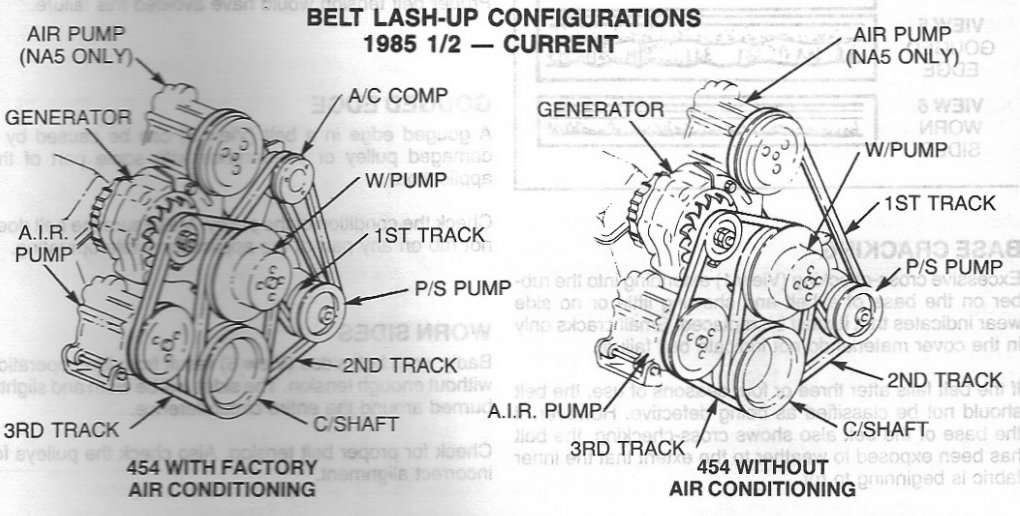 i took out my water pump for a 454 chevy engine and can ... 1983 chevy 454 engine belt diagram #2