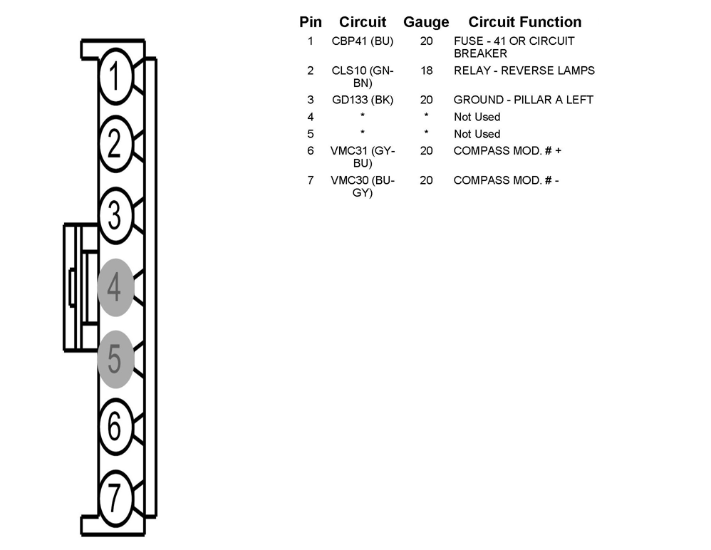 ford edge rear view mirror wiring diagram ford free engine image for user manual