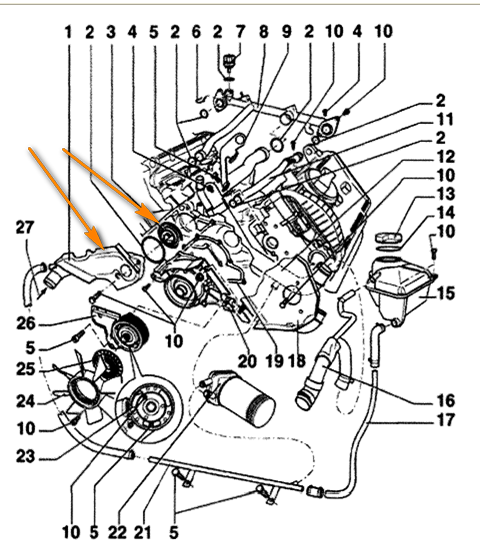 1997 vw passat engine diagram where is the thermostat in 2001 vw passat? heater in car ...