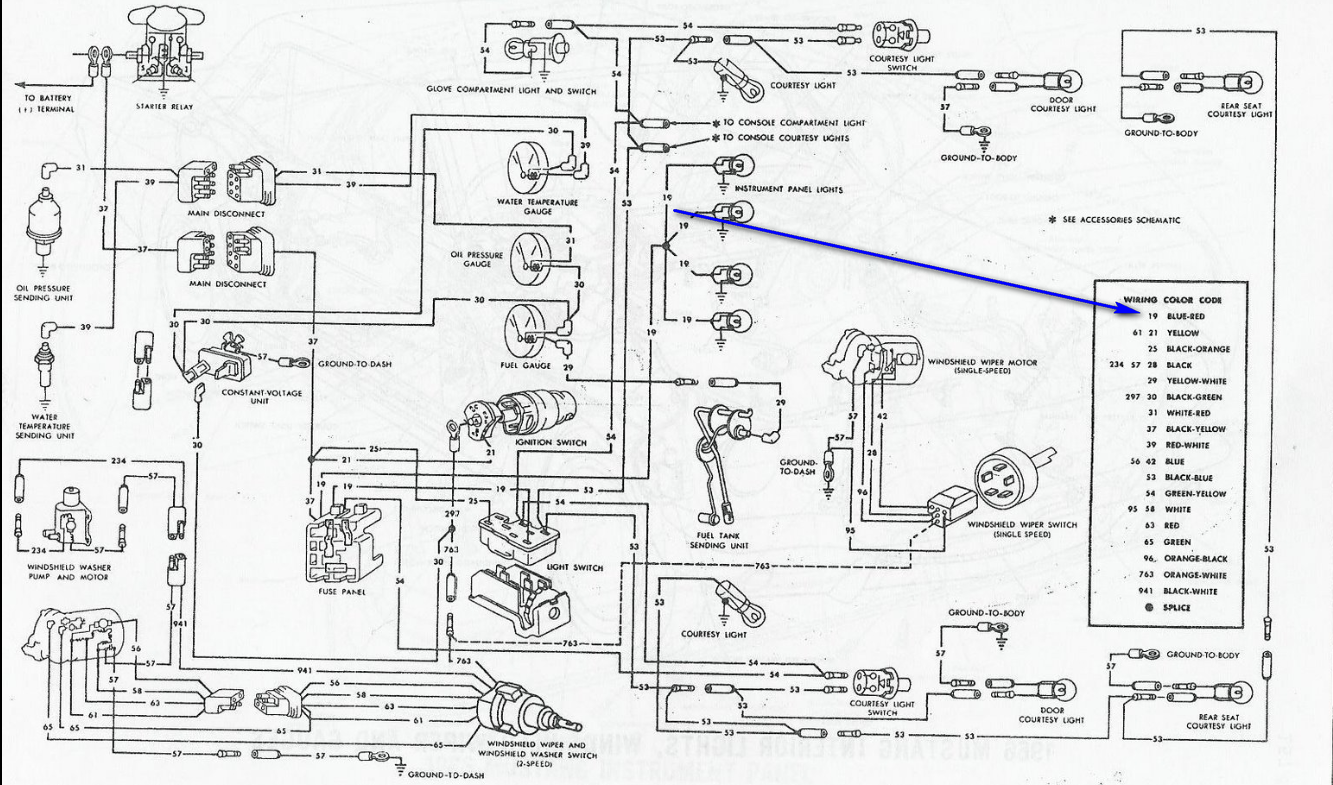 1966 mustang color wiring diagram  1966  free engine image