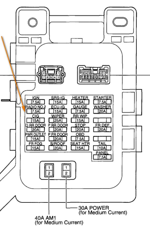 Fuse Box Diagram Lexus Is300 : Fuse box lexus is auto diagram