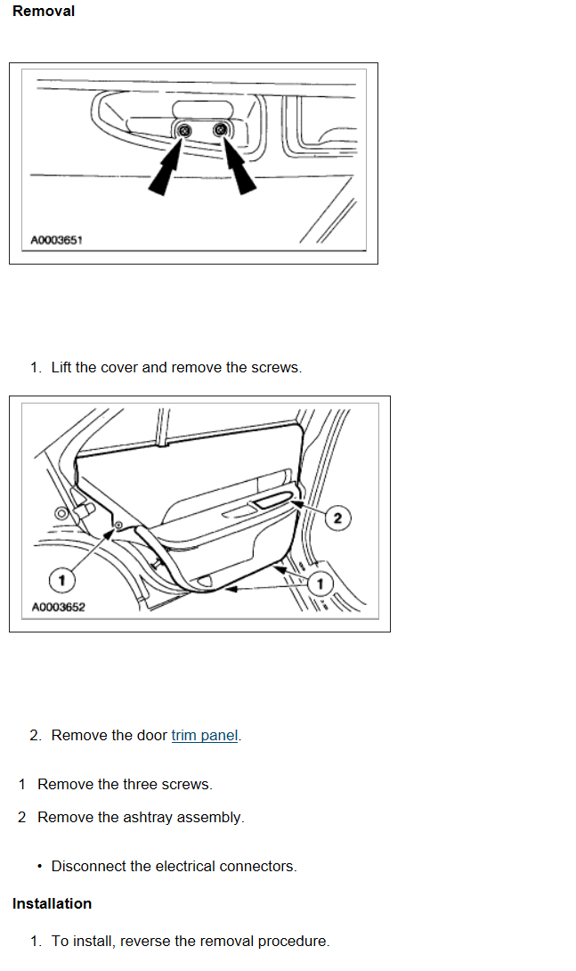 Service Manual How To Remove Rear Door Panel 2012 Lincoln Navigator L Service Manual
