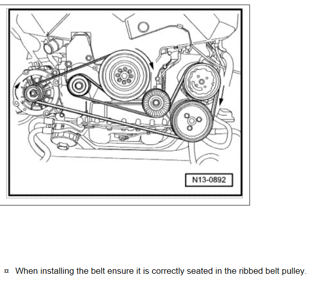 Need The Diagram For A 2004 Touareg V8 Serpentine Belt