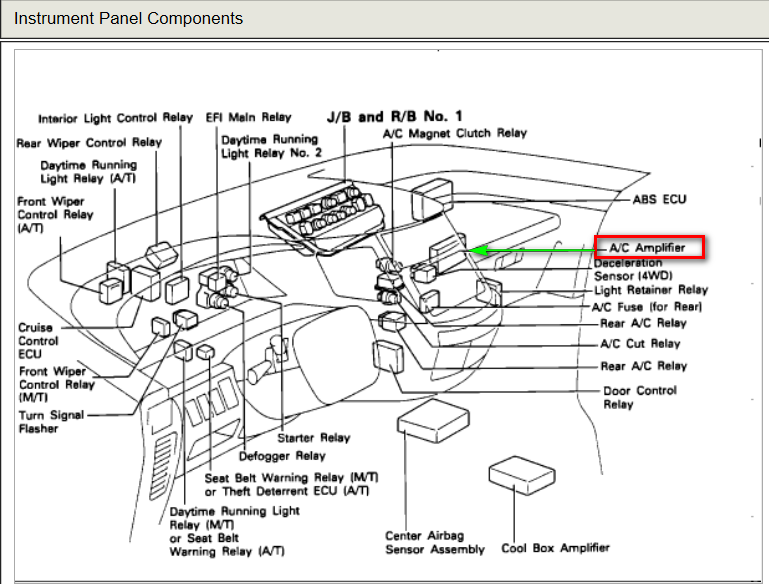 Toyota Avalon  lifier Wiring Diagram on 98 camry fuse box location