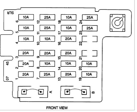 1996 gmc yukon / 4dr slt / 4wd - ignition fuse (20 amp ... 1996 gmc 1500 wiring diagram 1996 gmc slt wiring diagram #6