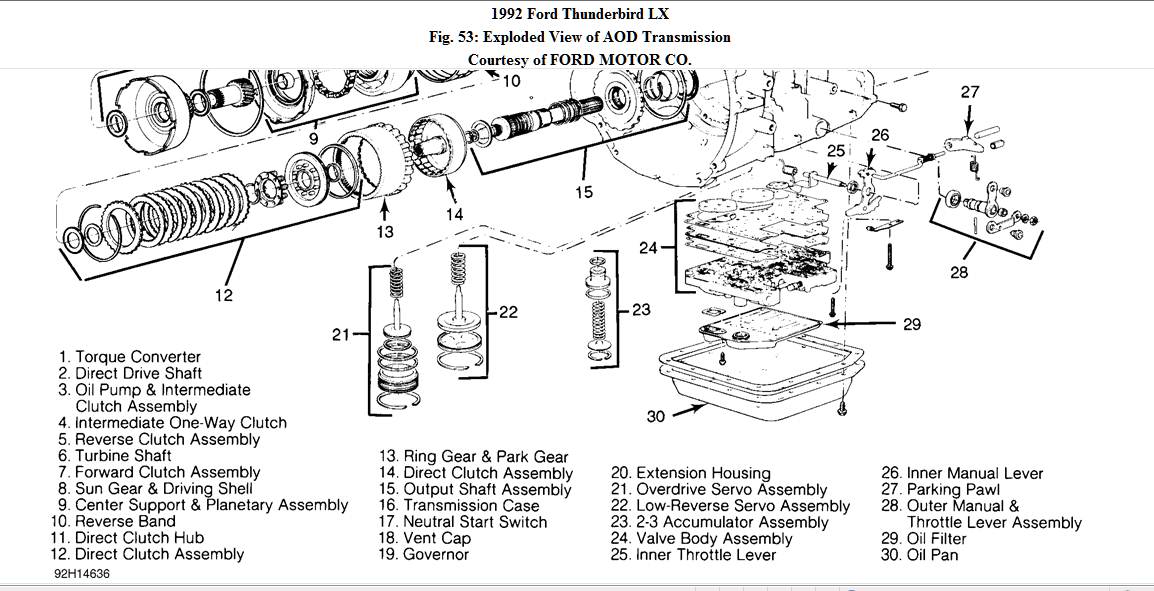 Aod Valve Body Diagram Wiring Diagram Database