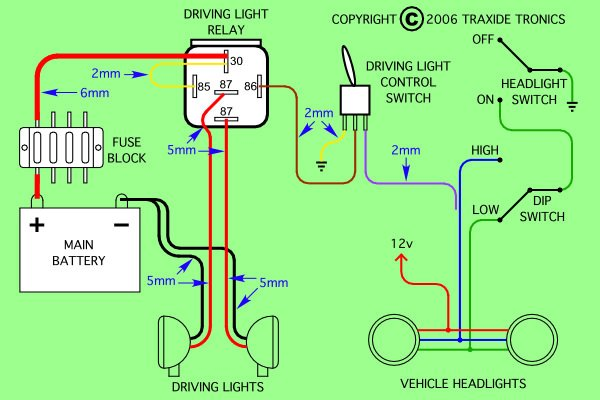 need to wire spotlight relay into 09 hilux usaly 1 go to toyota hilux driving light wiring diagram Basic Car Wiring Diagram