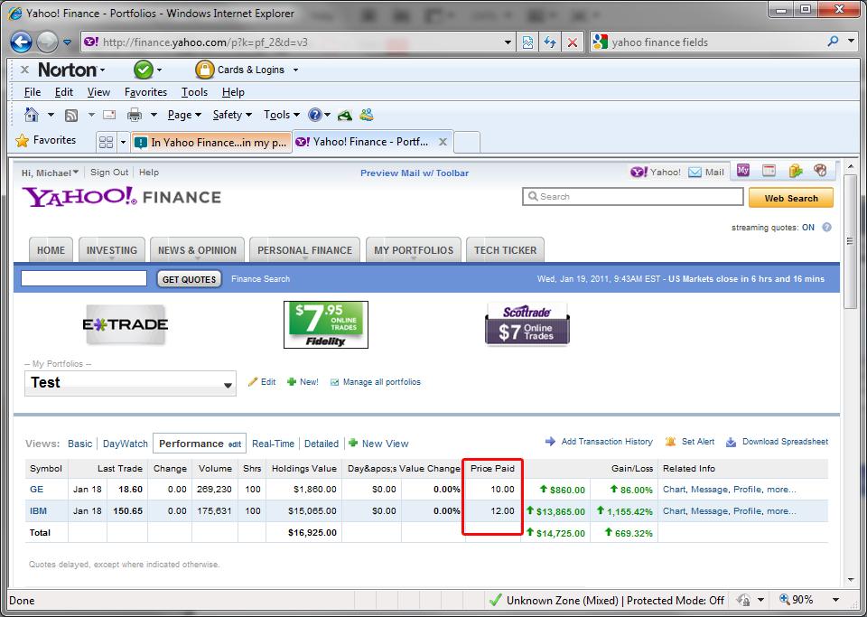 how to delete a portfolio in yahoo finance
