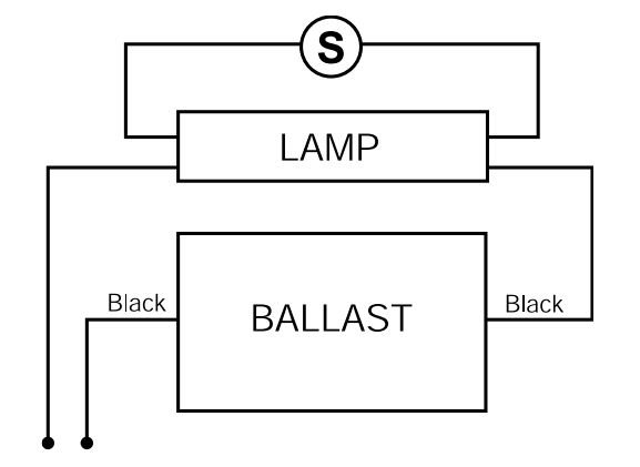 customer question need wiring diagram for a gem120ph120 ballast there should be a starter in the fixture look for a small cylindercle part recessed into the body of the fixture if there is one then it connect as shown