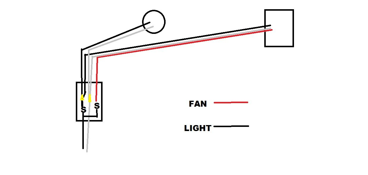 Ceiling Fan Light Switch Wiring moreover Wiring Diagram For Extractor Fan as well How Can I Convert Two Recessed Lights On A Single Pole Switch To Two Separate Li moreover Bathroom Exhaust Fan And Light Wiring Diagram likewise 3 Wire Switch Outlet  bo Wiring Diagram. on bathroom fan light combo wiring diagram