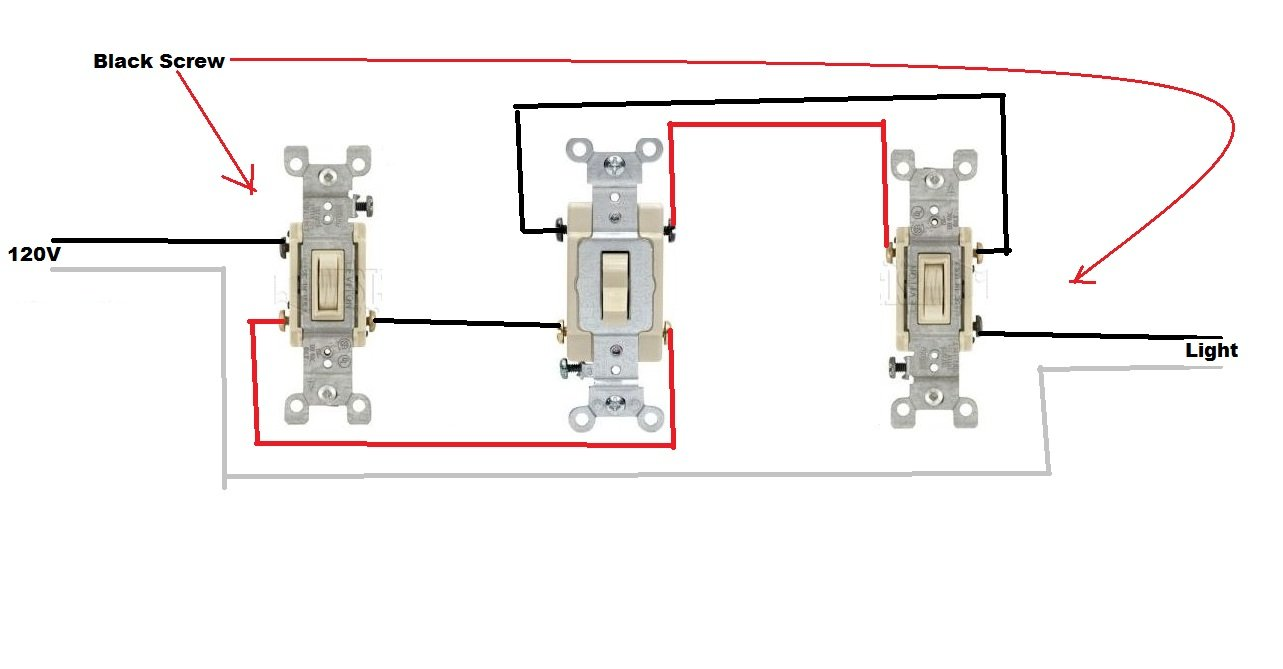 Installing Dimmer In Four Way Switch Circuit Series As Well 4 Wiring Diagram Together With 3 I M Three And Switches Power Is