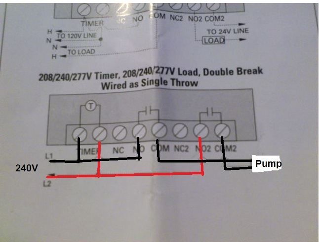 i am trying to follow a wiring diagram for a pool timer
