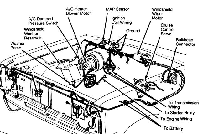 dodge dakota map sensor location