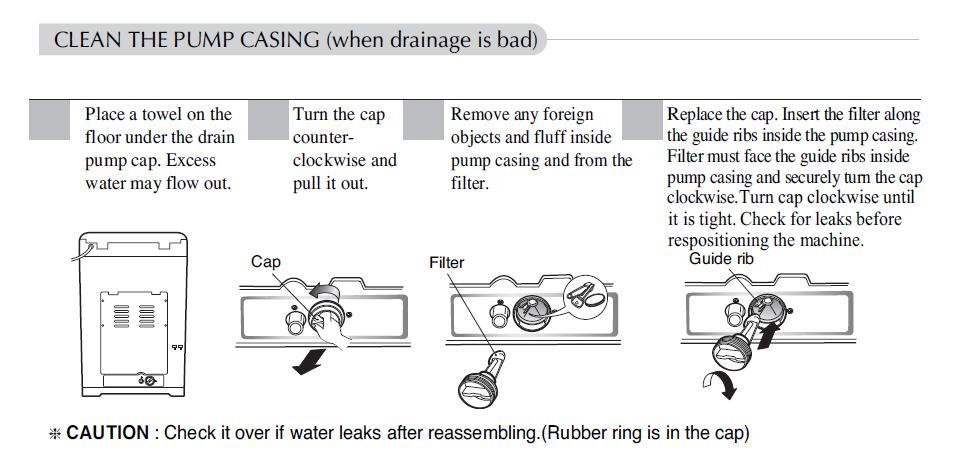 Lg fuzzy logic washing machine not draining