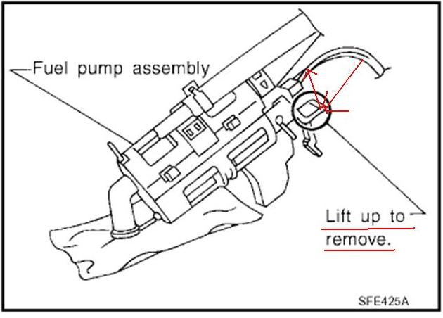 1990 nissan pickup fuel filter location