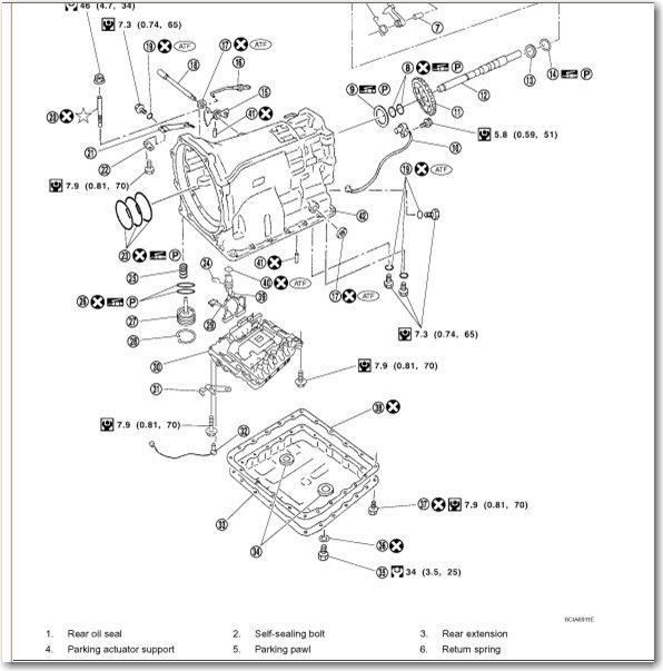 nissan automatic transmission diagram