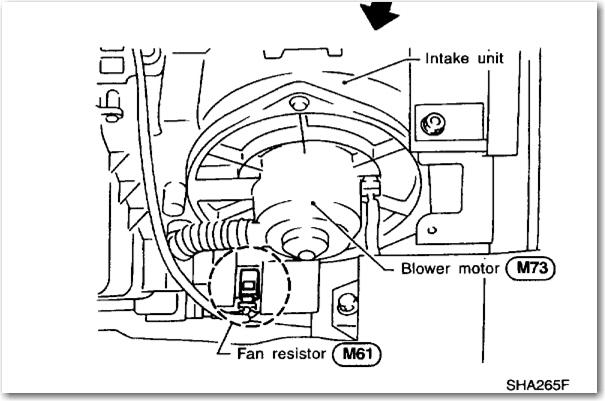 nissan pathfinder blower motor location  nissan  free