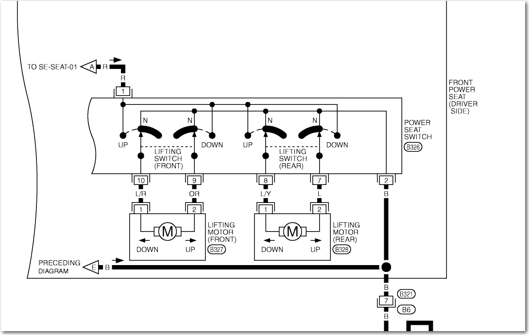 infiniti g35 coupe wiring diagram i have a g35 (2005) coupe the driver's side seat switch ...