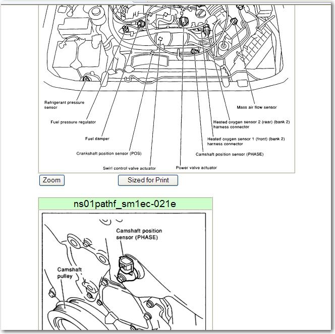 1996 Nissan Pathfinder Camshaft: Code P1145 2001 Pathfinder