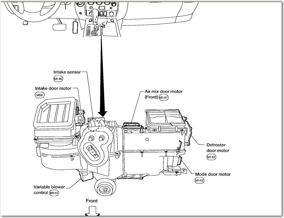 nissan titan defroster door motor