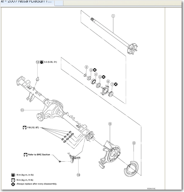 how do you replace the rear axle on a 2007 nissan titan. Black Bedroom Furniture Sets. Home Design Ideas