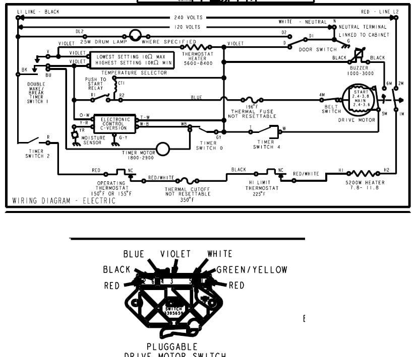 tag dryer wiring diagram solidfonts tag dryer wiring diagram nilza net