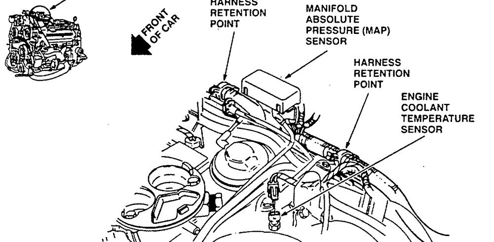 Location Of Map Sensor For 1995 Cadillac Deville 4 9