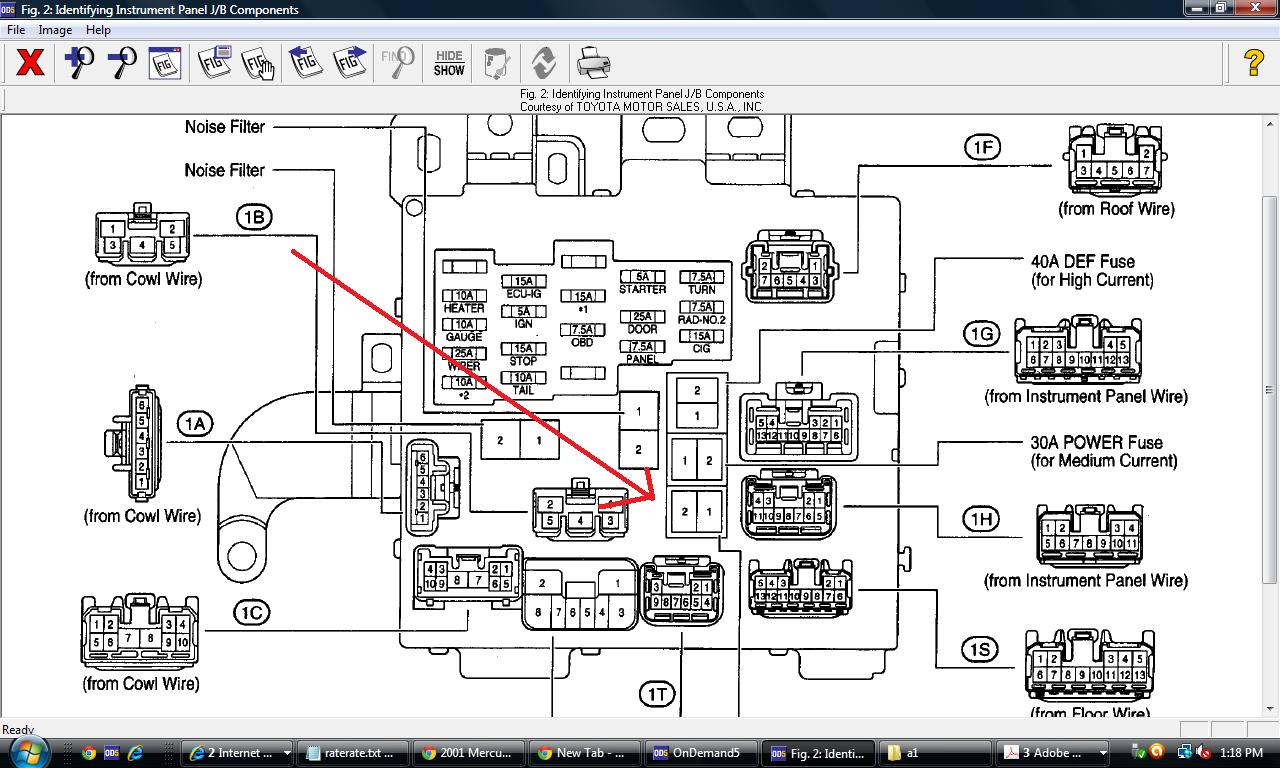 2000 Toyota Camry Alternator Wiring Diagram : Blown alternator fuse toyota