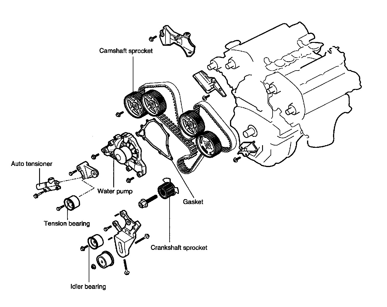 step by step instructions for replacing water pump and