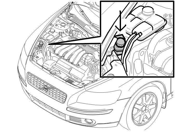 how do i access or fill power steering reservoir on 2007