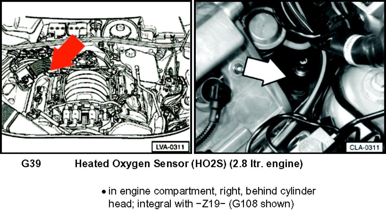 volkswagen o2 sensor location