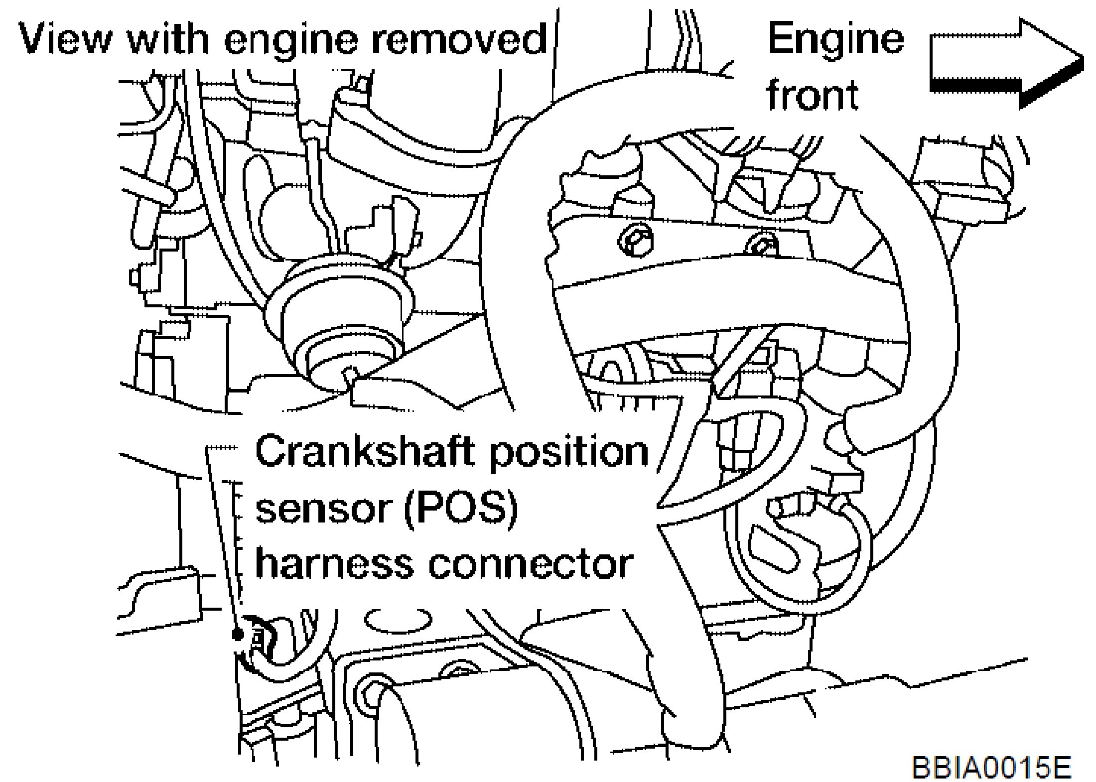 Which Side Is Bank 2 together with RepairGuideContent also 2bcup Camshaft Position Sensor Located 2005 Nissan in addition 268502 2009 G37 Crankshaft Position Sensor as well 2003 Nissan Altima Map Sensor Location. on nissan sentra crankshaft position sensor