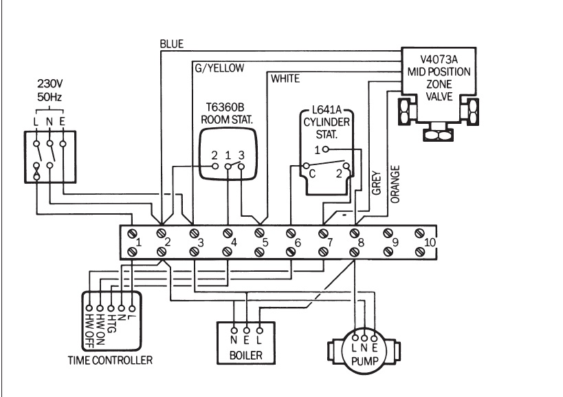 ep 40 b boiler fitted new programmer followed wiring diagrams this is a typical wiring diagram for your system if your boiler requires a permanent live also for pump overrun etc then