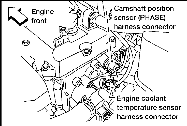 nissan frontier crankshaft position sensor location 4 0